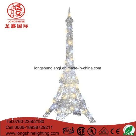 China Outdoor Decoration LED Eiffel Tower Lighting 3D Motif Light ...