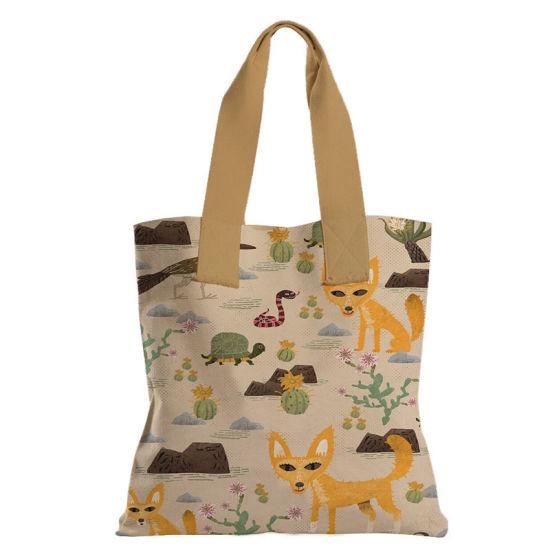 Cute Cats Animal Custom Logo Cotton Canvas Beach Tote Bag