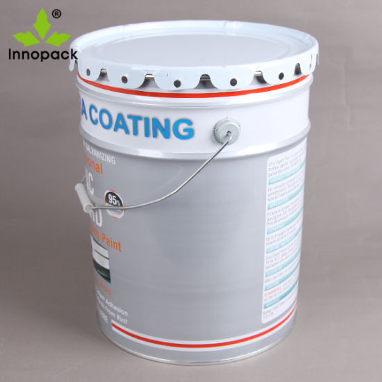 19L/5 Gallon Galvanized Steel Metal Bucket Paint Pail