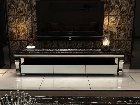 Wholesale Elegant and Melamine Finish Tempered Glass Tv stand