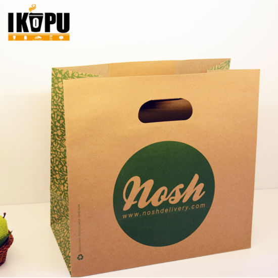 8 x 5 x 10 Kraft Brown Paper Cub Shopping Gift Bags with Rope Handles x 50 pcs