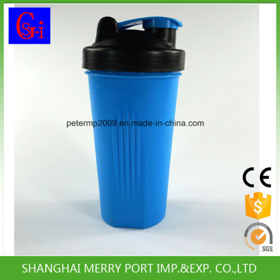 china solid blue color bpa free cheap personalized protein plastic
