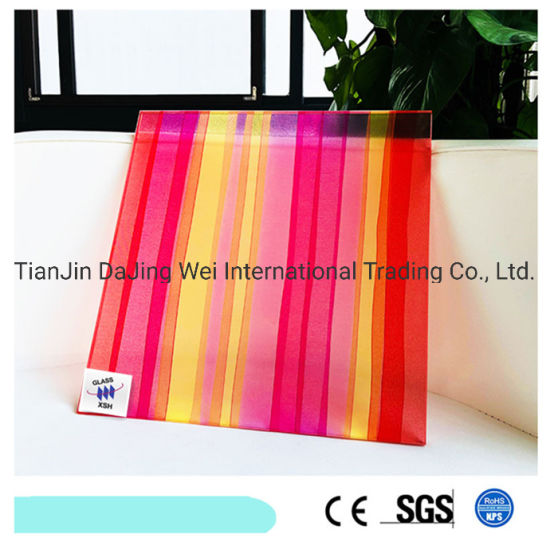 Competitive Price Clear Glass Wired Glass Fabric Design Laminated Glass for Decoration