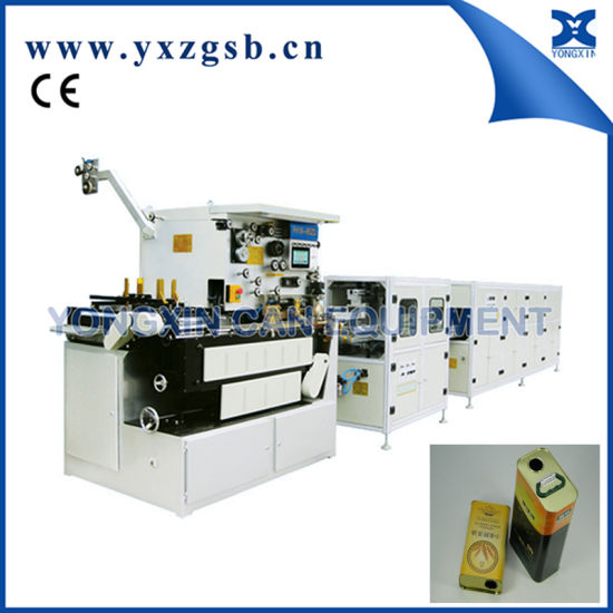 Semi-Automatic Backward Welding Machine of Small Tin Retangular Square Can pictures & photos