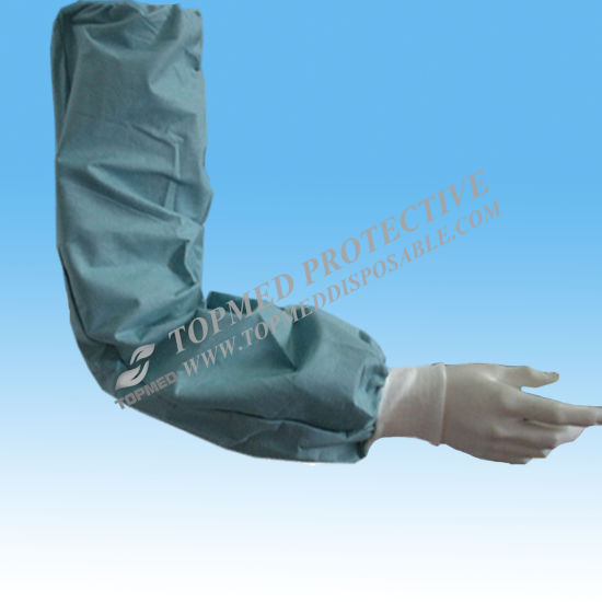 c382b4c293 Medical Consumables Disposable Plastic Sleeve Cover, PP Non-Woven Sleeve  Cover pictures & photos