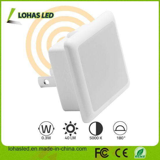Beautiful LED Night Light Bulb 0 3W 110V Plug in LED Night Lamp with Automatic Dusk to Dawn Light Sensor For Your House - Simple led light sensor Photo
