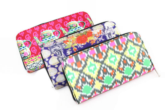 Best Selling Custom Printing Fabric Wallet for Women pictures & photos