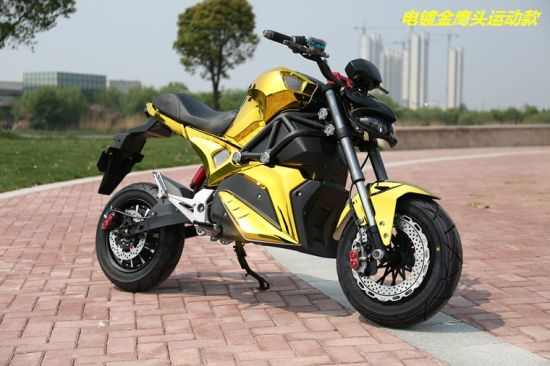 3000W High Speed Electric Motorcycle with QS Motor Lithium Battery Powered pictures & photos