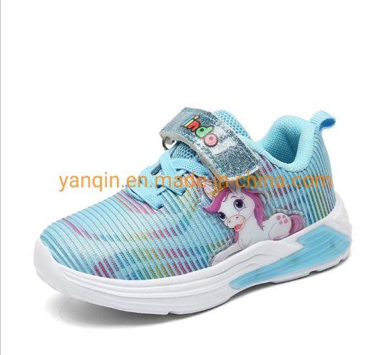 Female Children′ S Shoes Big Children′ S Leisure Lamp Shoes