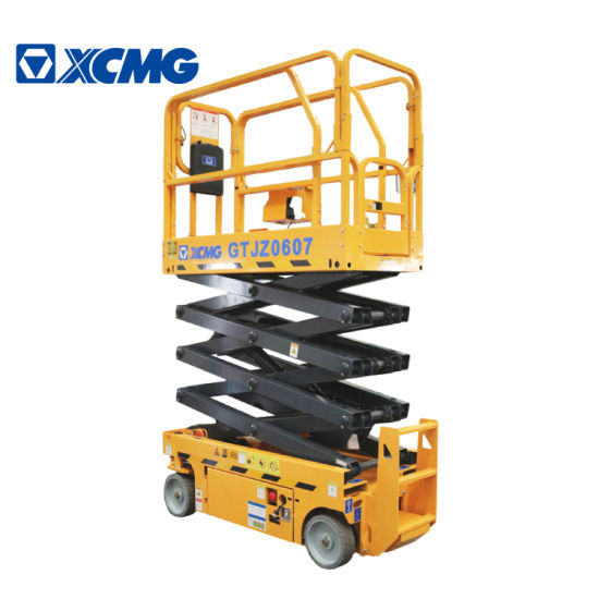XCMG Gtjz0607 7.8m Electric Construction Cheap Hydraulic Scissor Lift Aerial Work Platform Table China