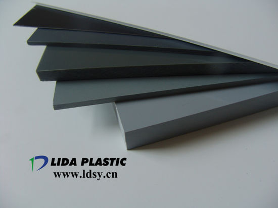 Manufacturer PVC Grey White Clear Transparent Color Rigid Sheet with Wooden Pallet (thickness 1mm-60mm)