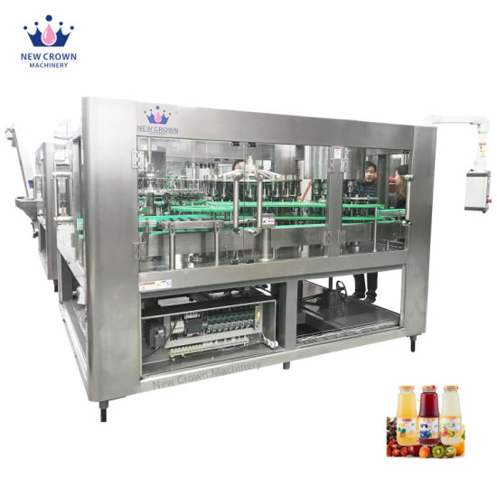 2000-30000bph Automatic Concentrate Mixing Juice Plastic Glass Bottle Hot Filling Packing Machine with Ce UL Certifiate