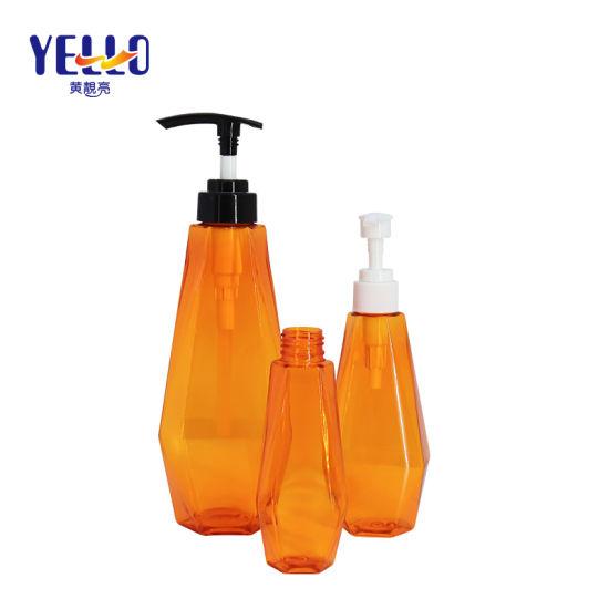 120ml 200ml 500ml Factory Supply Orange Skincare Packaging Pet Plastic Shampoo Bottle