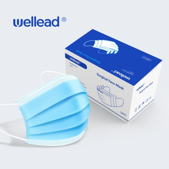 Ce Protective 3-Ply Disposable Medical Surgical Ear Loop & Tie on Facial Mask