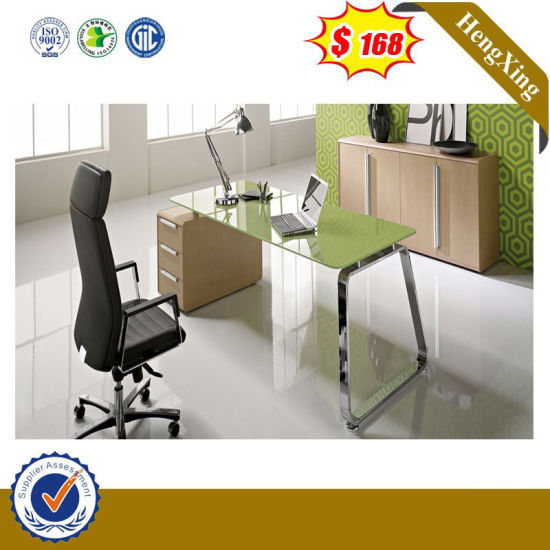 New Design Office Furnituretempered Glass Study Computer Desk pictures & photos