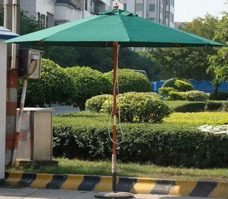 Um-001 Guangdong Green Wood Outdoor Umbrella Sale