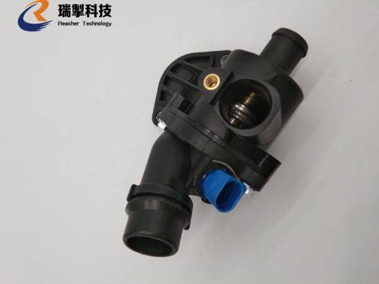 Engine Coolant Thermostat Water Outlet Assembly for Audi A4 1.8L 06b121111K