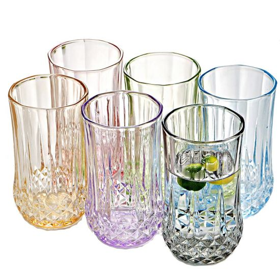 Glass Set Heat-Resistant Colored Beer Glass White Wine Glass Juice Glass Cup