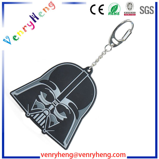 Promotional Fashion 3D Customized Cartoon Rubber Keychain for Gifts