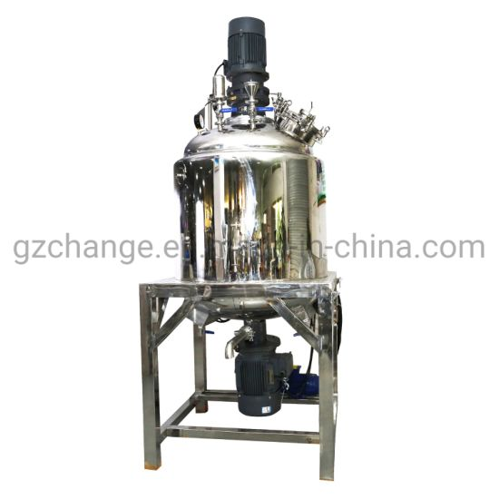 Chinese Factory Supplier 500 L Vacuum Emulsifying Mixer