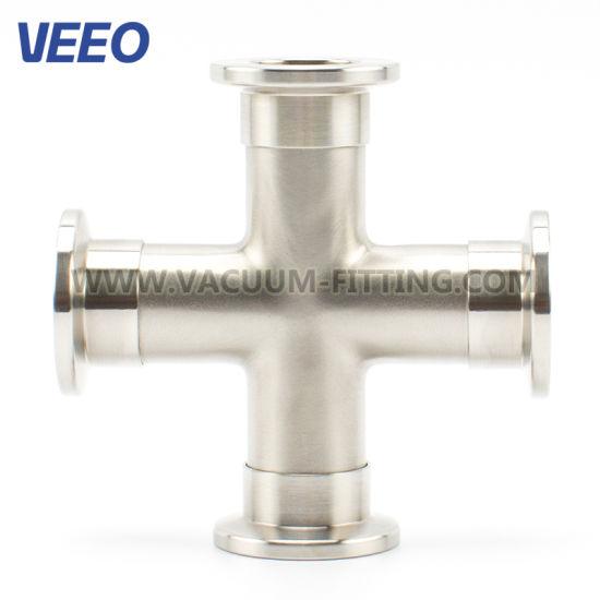 Stainless Steel Vacuum Fittings ISO 4-Way Crosses
