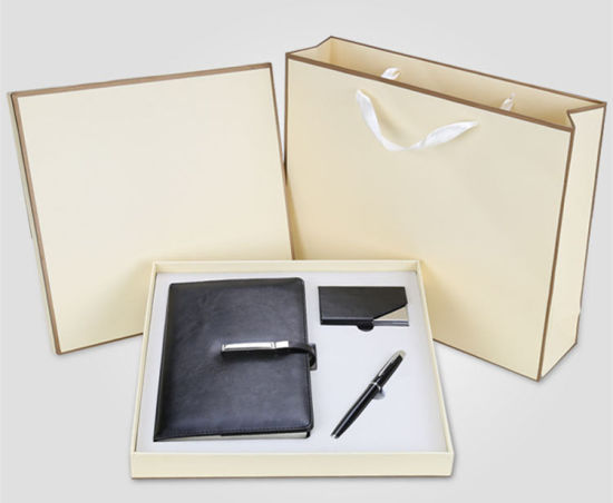 Promotional Gift Sets, Luxury Metal Pen Power Bank and Notebook, Corporate Gift
