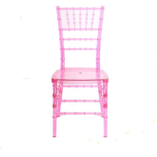 Clear Plastic Resin Chivari Tiffany Transparent Chair for Wedding pictures & photos