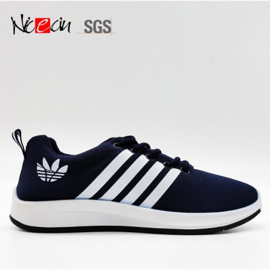 China Men Sport Casual Shoes Supplier Canvas Upper Injection Sole
