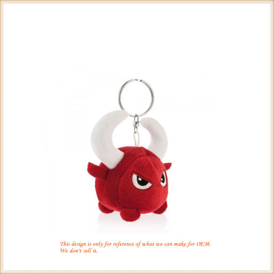 Stuffed Red Monster Key Finder Plush Clip-on
