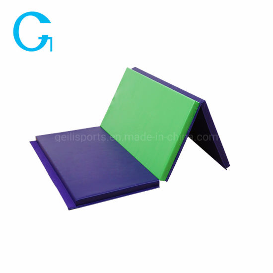 Eco-Friendly PVC Customized Color Tri-Folding Gym Mat Exercise Mat