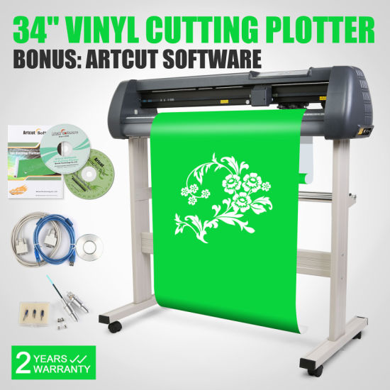 "34"" 870mm Vinyl Cutting Plotter Software Cut Function Contour Sticker Cutter pictures & photos"