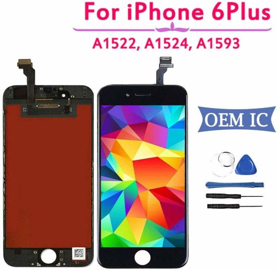 Mobile Phone LCD Repair Parts LCD for iPhone 6 Plus- LCD Display Touch Screen Digitizer Complete Assembly Replacement