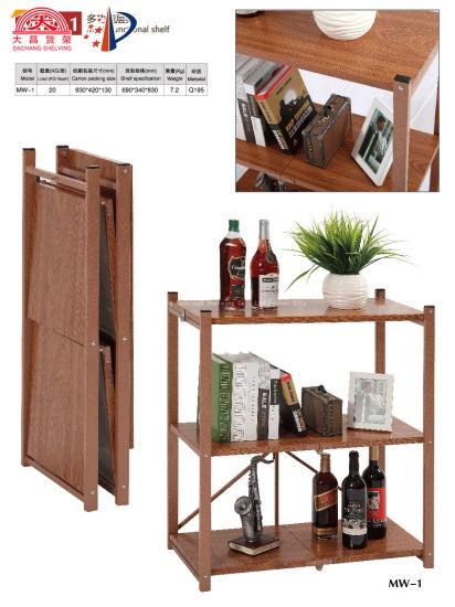 Simulation Wood Grain Color Light Duty Storage Shelf for Living Room