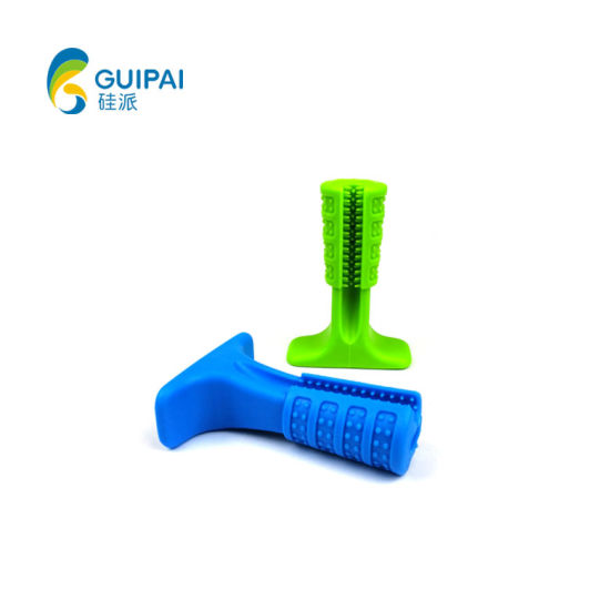 OEM Non-Toxic Pet Teeth Cleaning Silicone Rubber Dog Toothbrush Stick
