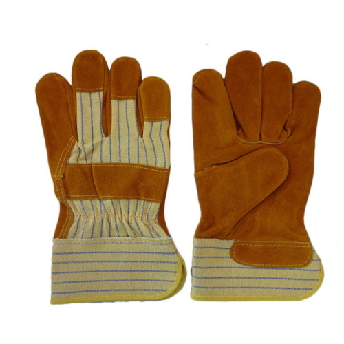 High Quality Comfortable Cow Split Leather Gloves pictures & photos