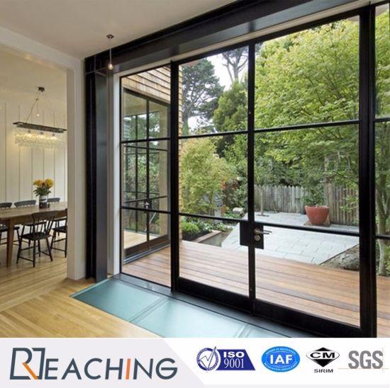 High Quality Villa Supply Grid Sliding Door Aluminium Frame