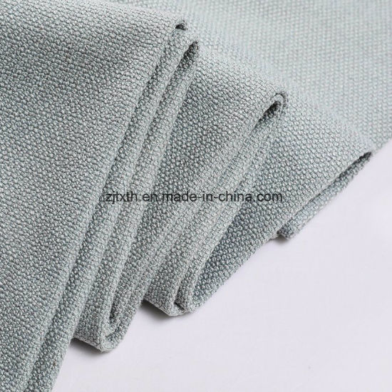 For Covering Sofa Elegant 100% Polyester Linen Look Fabric pictures & photos