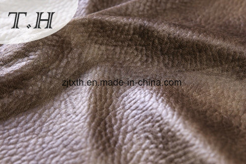 2017 Hot Stamping Suede Fabric for Sofa and Chair pictures & photos