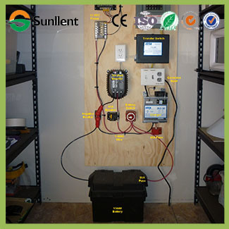 Solar Panel Charge Battery Inverter off Grid Home Power Solar Panel Energy Solar Power System