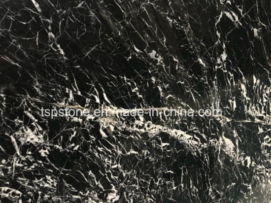 Nero Marquina Marble Stone Slab for Floor/Flooring/Stair/Wall/Bathroom/Kitchen Tile/Bathroom/Wall Tile pictures & photos
