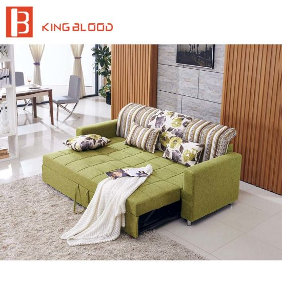 China Cheap Price L Shape Corner Modern Sofa Cum Bed with Storage
