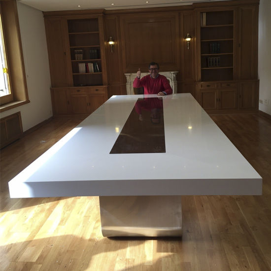 USA Luxury Design White Corian Furniture Office Meeting Boardroom Conference Table Set & China USA Luxury Design White Corian Furniture Office Meeting ...