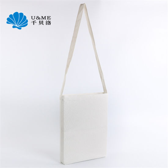 Wholesale Blank Long Shoulder Sling Messenger Cotton Canvas Bag for Men