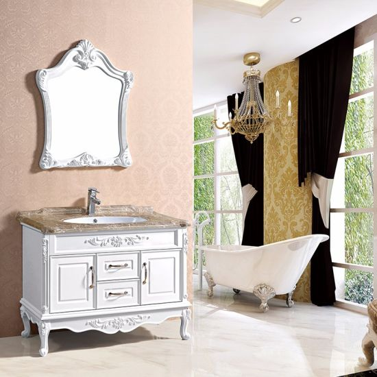 New Floor Standing Mirror Cabinet Design Pvc Bathroom 8001