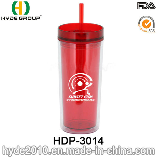 9d6056cef29 16oz Customized BPA Free Plastic Acrylic Tumbler with Straw pictures &  photos