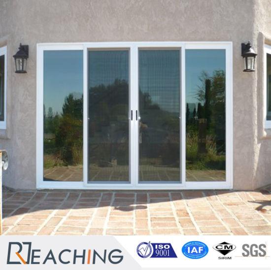 Hot Selling Cheap Price Fiberglass Plastic UPVC/PVC Glass Sliding Doors  With Grill Inside