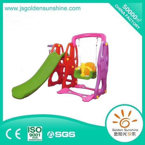 Indoor Colorful Safety Plastic Slide with Swing for Children (JYG-56779)