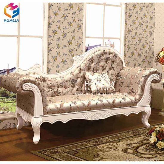 China Eroupean Style Fabric Sofa Chaise For Bedroom Living Room