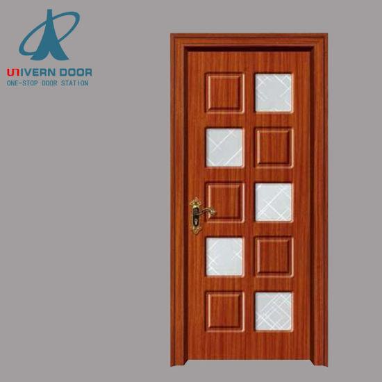 China Fiber Design Bathroom Interior Wooden Doors Designs