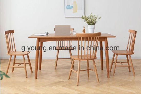 Solid Cherry Wood Square Dining Table